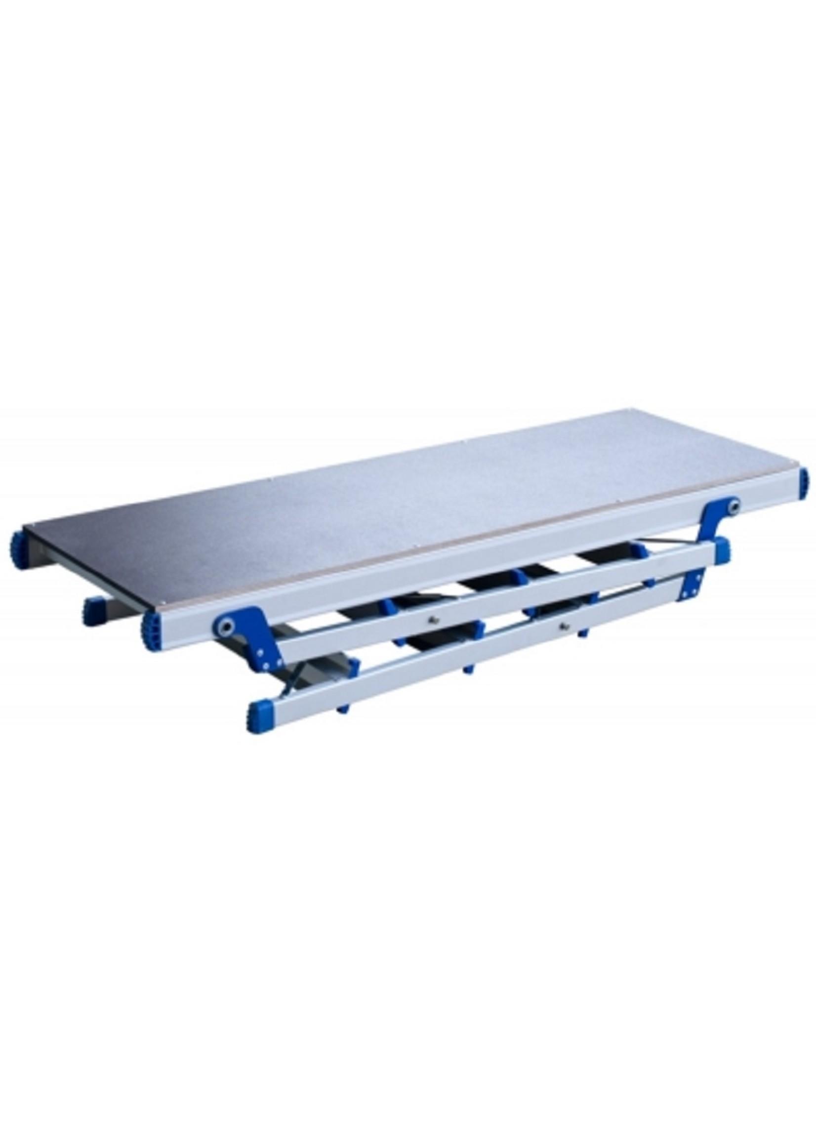Spider & Co Aluminium inklapbaar werkplateau 124 x 45 x 92 cm (lxbxh) tot 150 kg