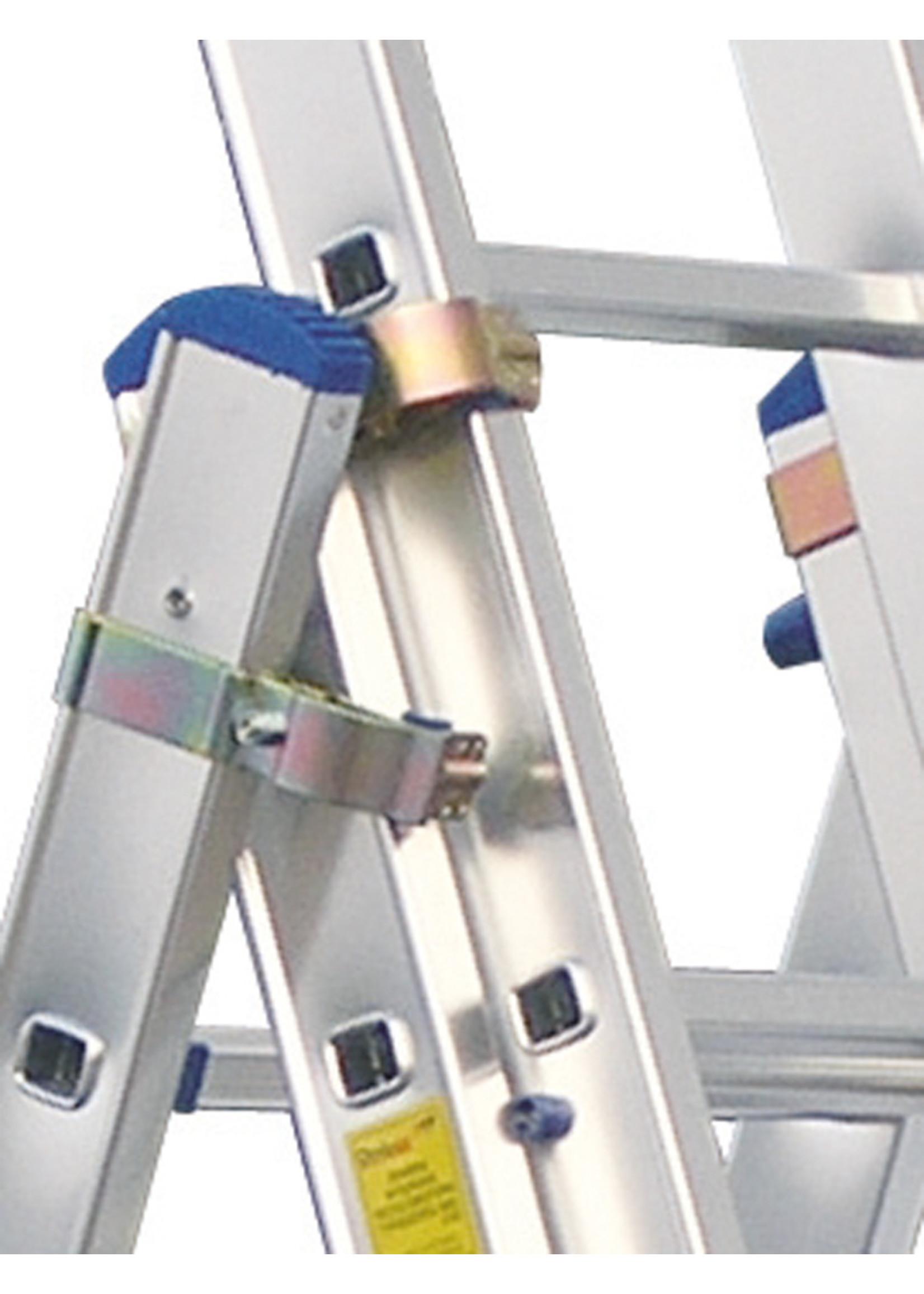 Spider & Co Aluminium opsteek- of uitzetladder professional 3x7 treden 197 x 40 cm  EN131 tot 150 kg