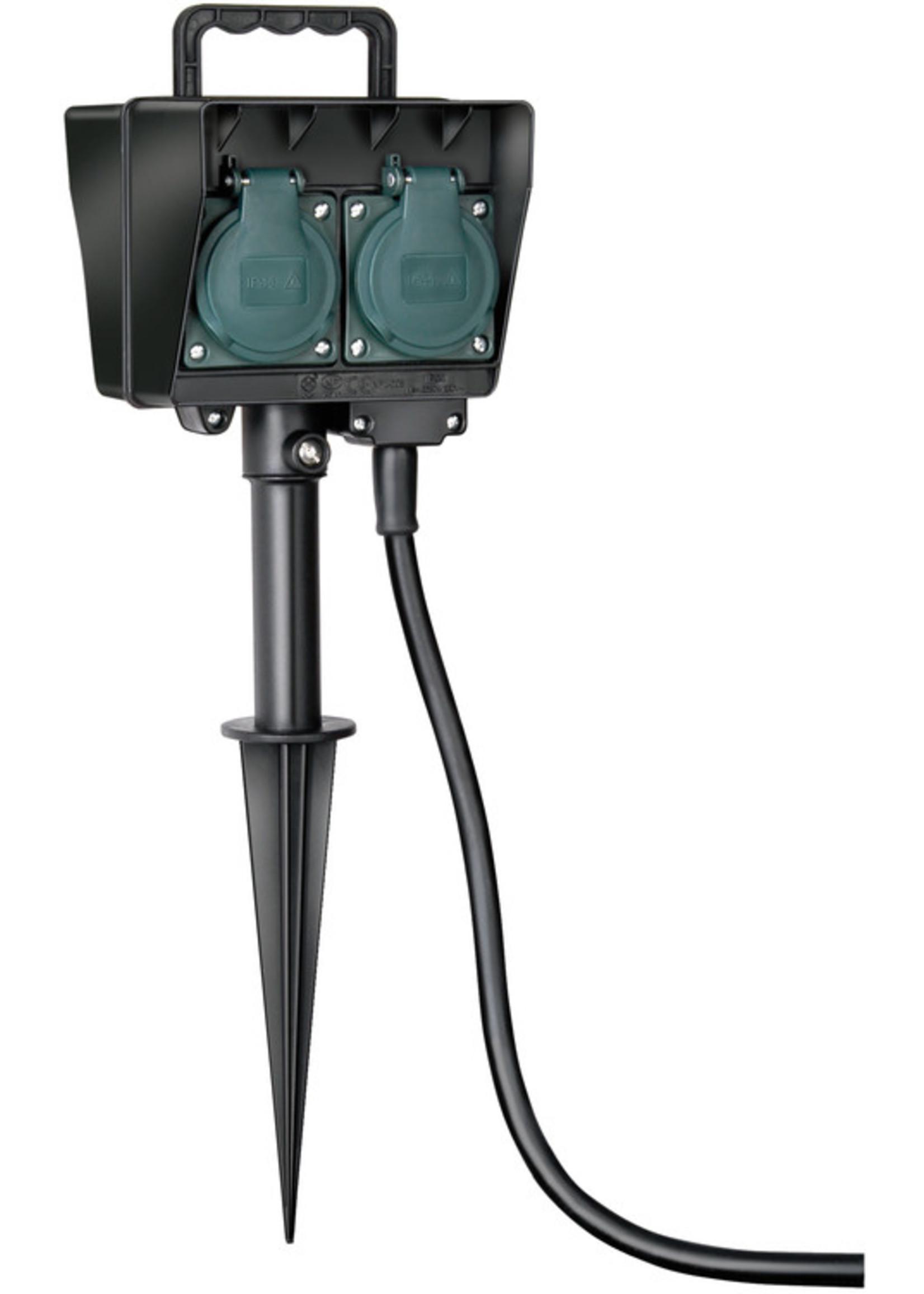 Brennenstuhl Brennenstuhl Tuincontactdoos met aardspies IP44 4-voudig 1.5m H07RN-F 3G1.5 *FR*
