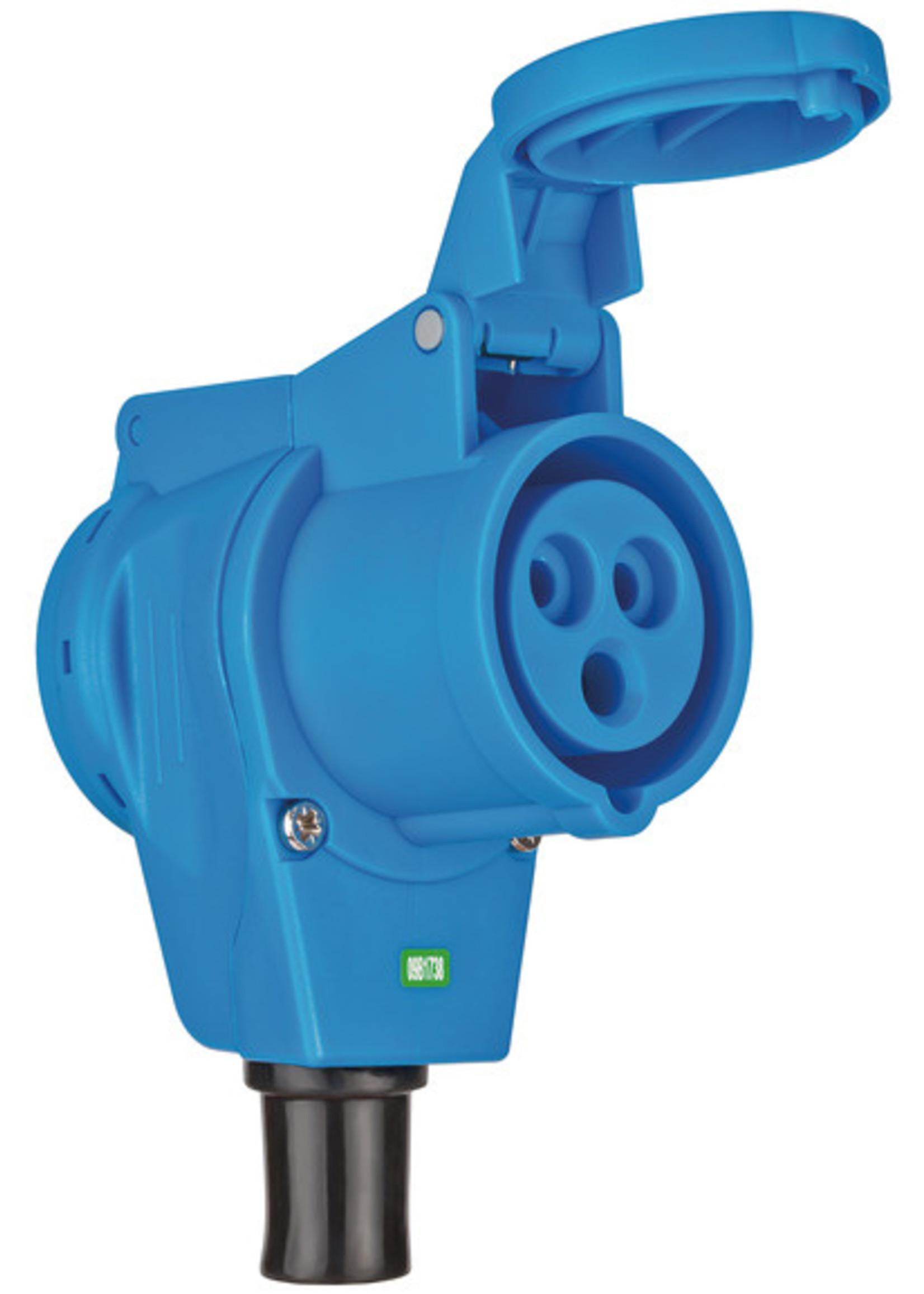 Brennenstuhl Brennenstuhl CEE-haakse koppeling 230V/16A IP44 - 1x 230V/16A. 1x 230V CEE 16A 3-polig