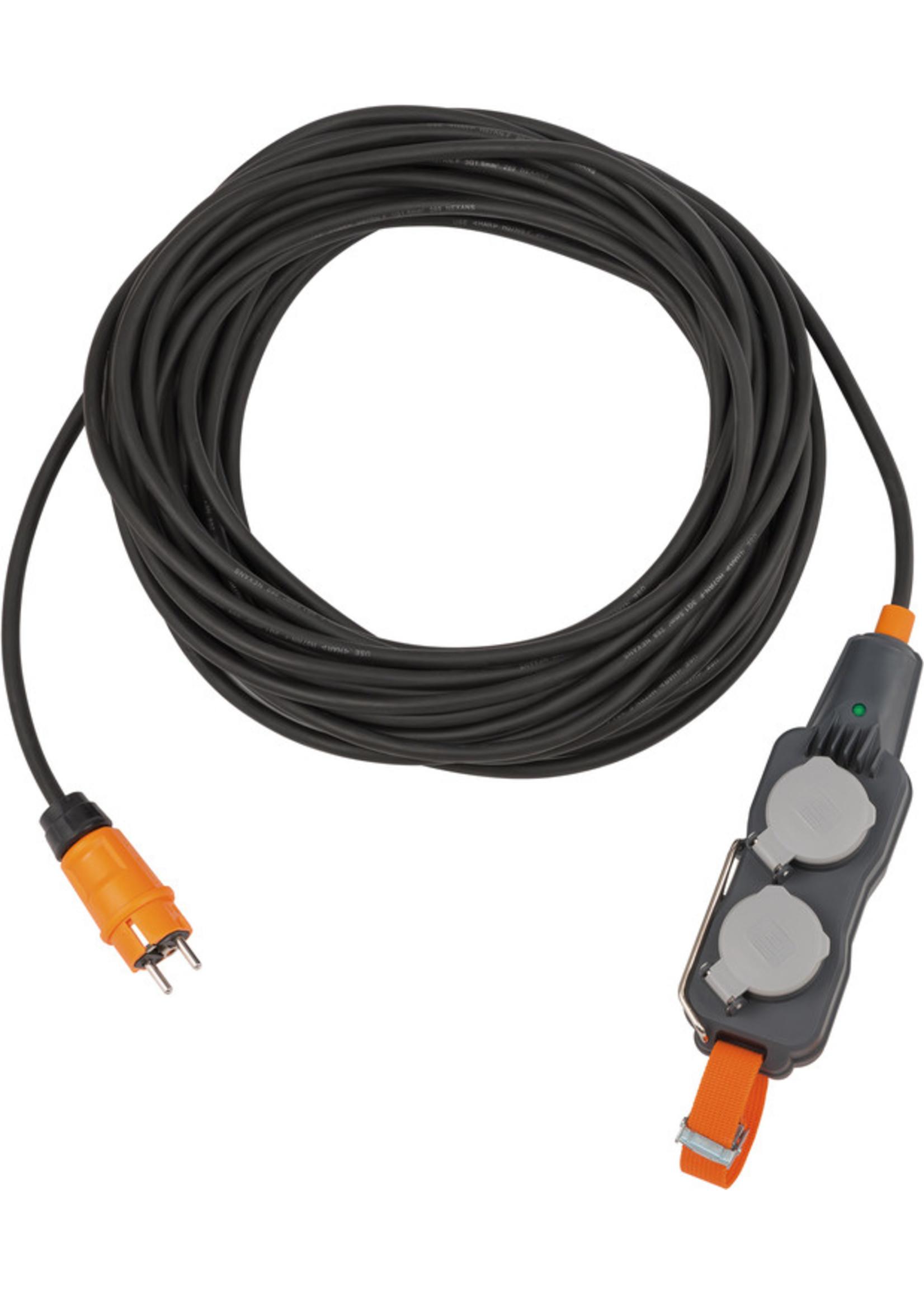 Brennenstuhl Brennenstuhl ProfessionalLINE 9161150160 Powerblock met verlengkabel - 4x - IP54 - H07RN-F3G1.5 - 15m - Zwart