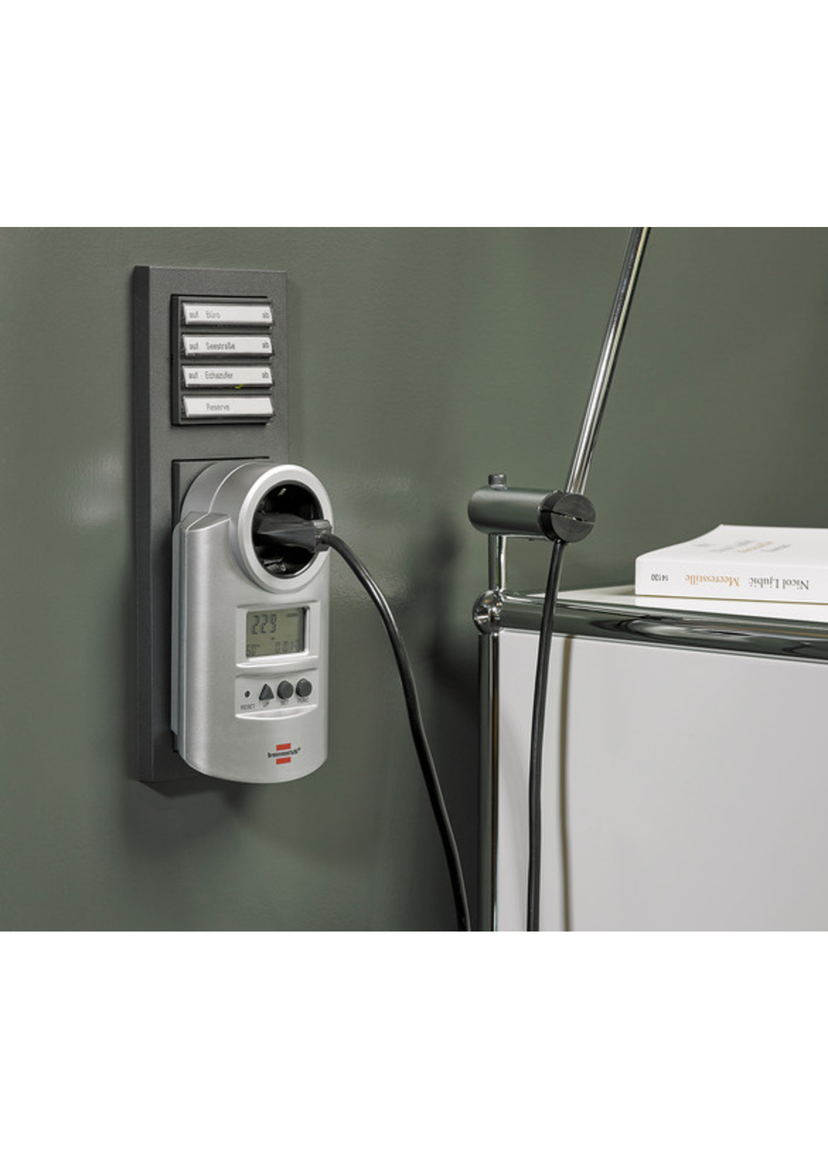 Brennenstuhl Brennenstuhl 1506600 Primera Line PM 231 E Energiemeter met klok- en meetfunctie *FR/BE*