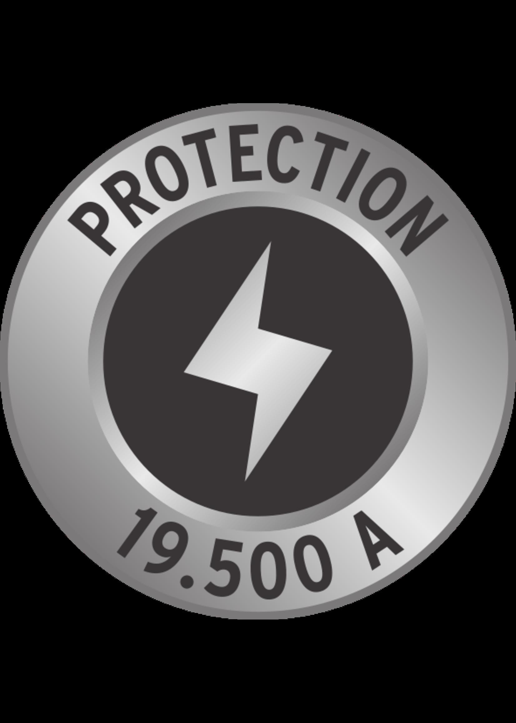 Brennenstuhl Brennenstuhl Secure-Tec 19.500A stekkerdoos met overspanningsbeveiliging. akoestisch 6-voudig antraciet 3m H05VV-F 3G1.5 *FR*