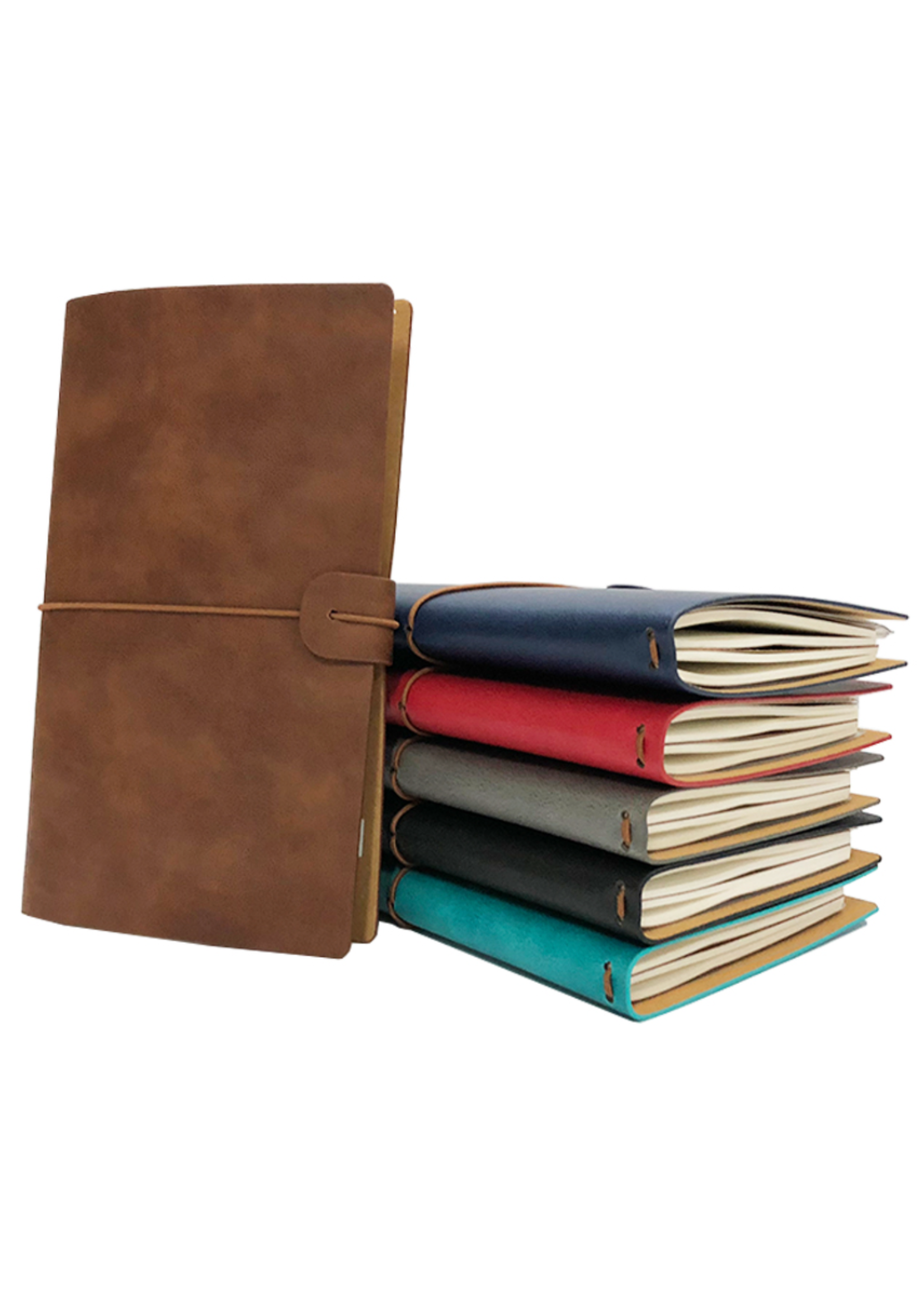Spider Handmade Leather Travel Journal Licht Blauw