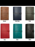 Spider Handmade Leather Travel Journal Licht Blauw / Turqoise