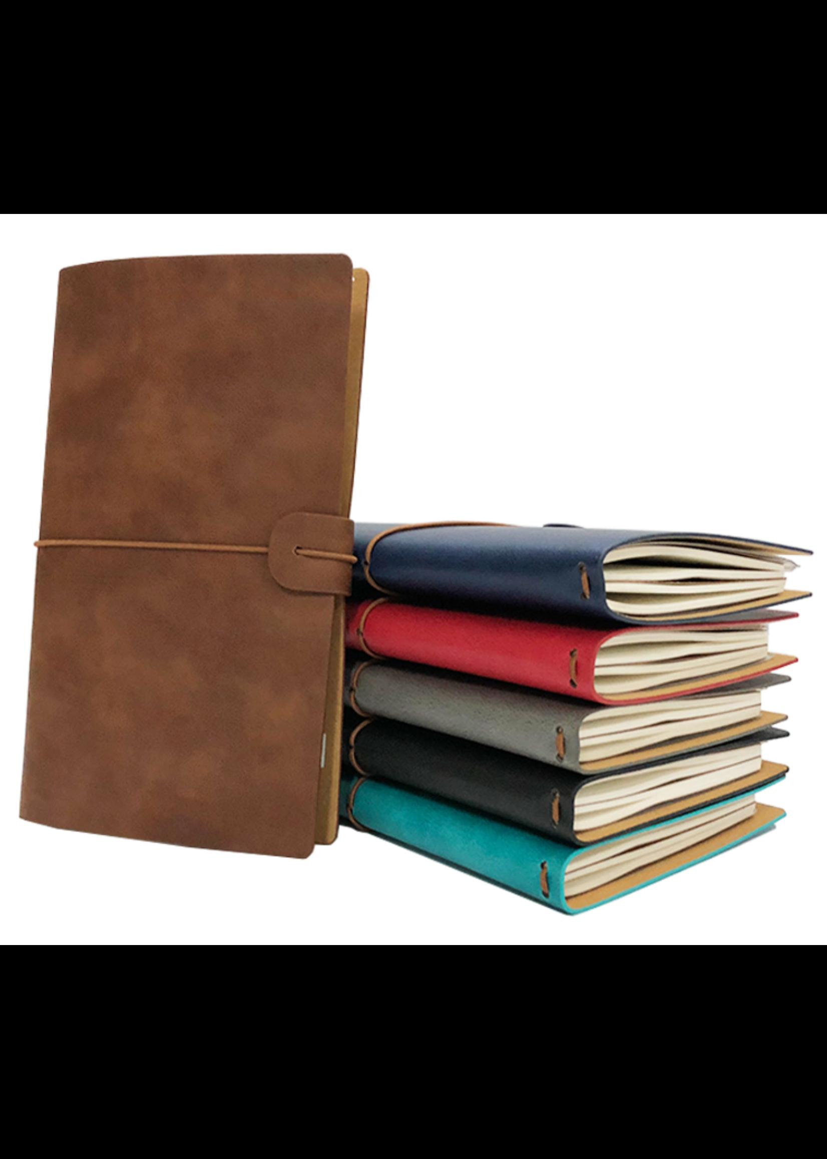 Spider Handmade Leather Travel Journal Rood