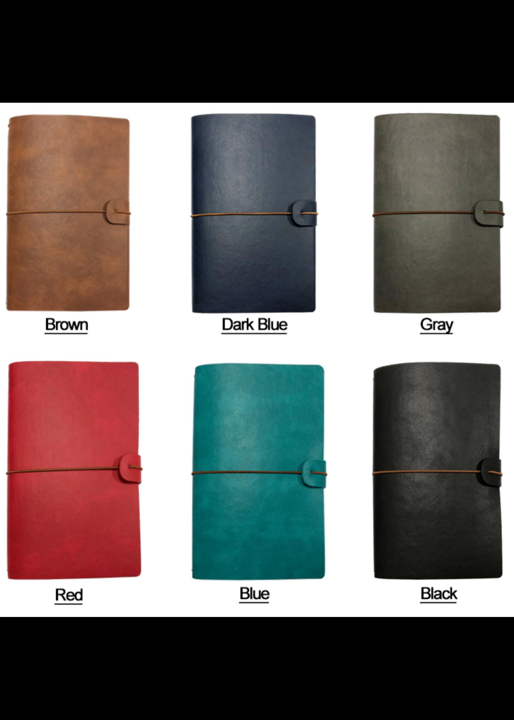 Spider Handmade Leather Travel Journal Donker Blauw