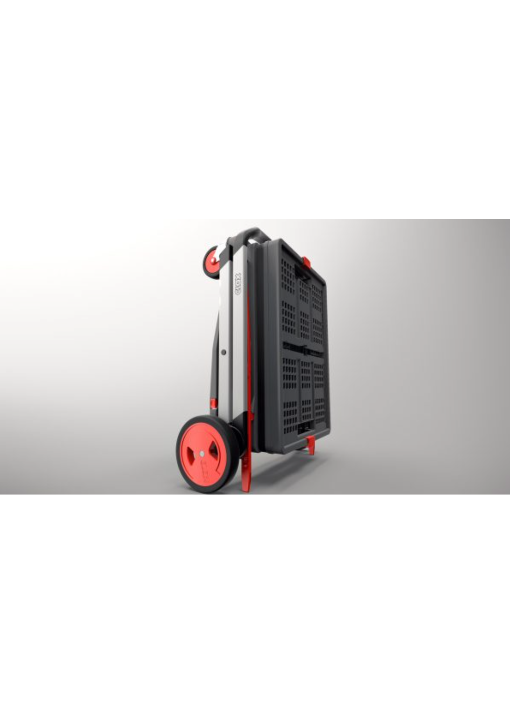 Clax Clax trolley inclusief vouwkrat  - Rood