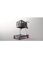 Clax Clax trolley inclusief vouwkrat - Roze