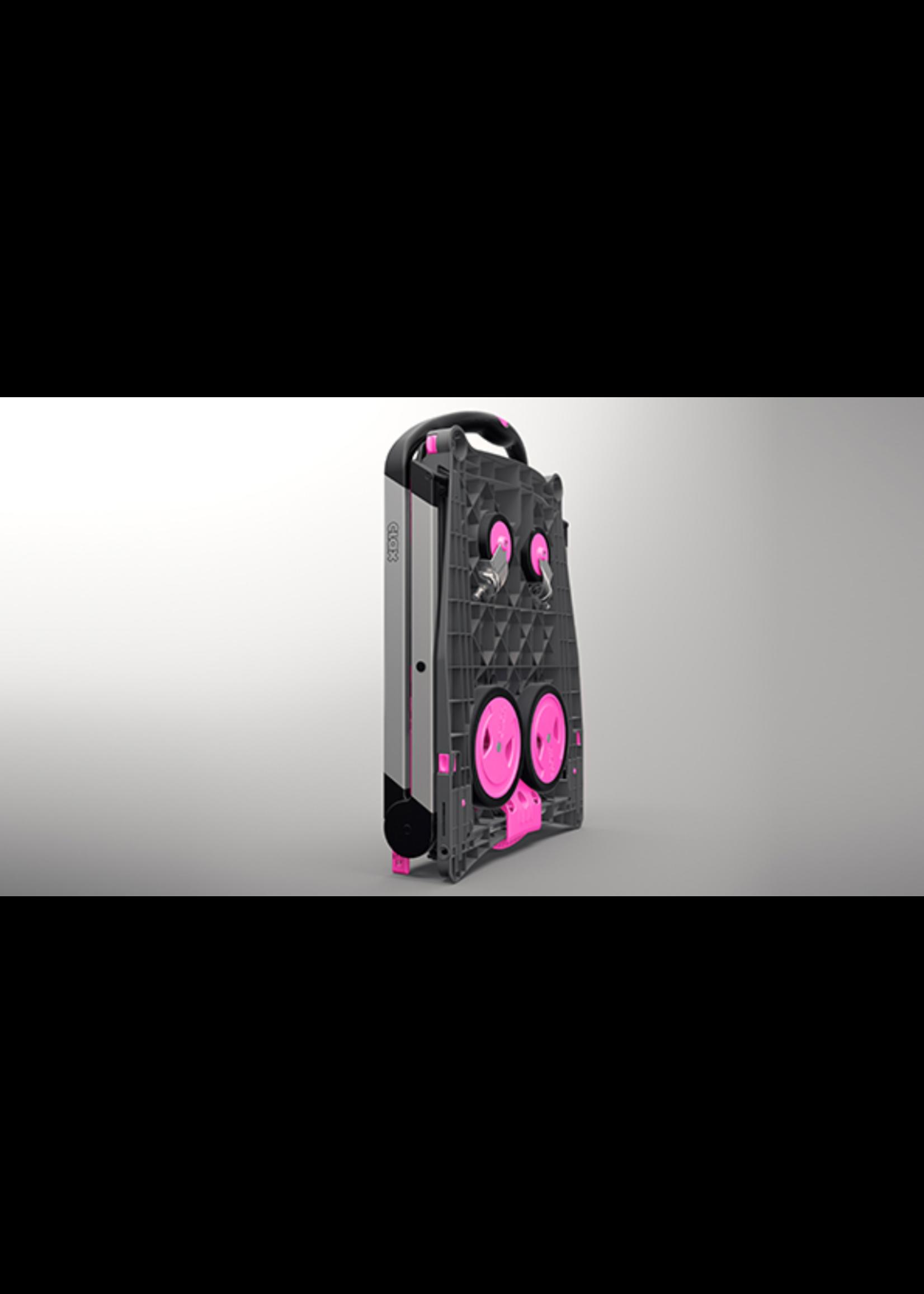 Clax Clax trolley inclusief vouwkrat -Roze