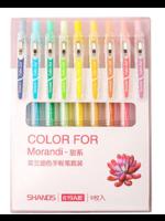 Set van 9 verschillende kleuren gelpennen - lichte pasteltinten