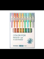 Set van 9 verschillende kleuren gelpennen - light