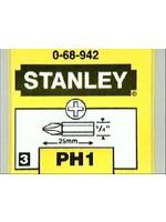 Stanley Stanley bit set PH1, 25 mm, set van 3 stuks