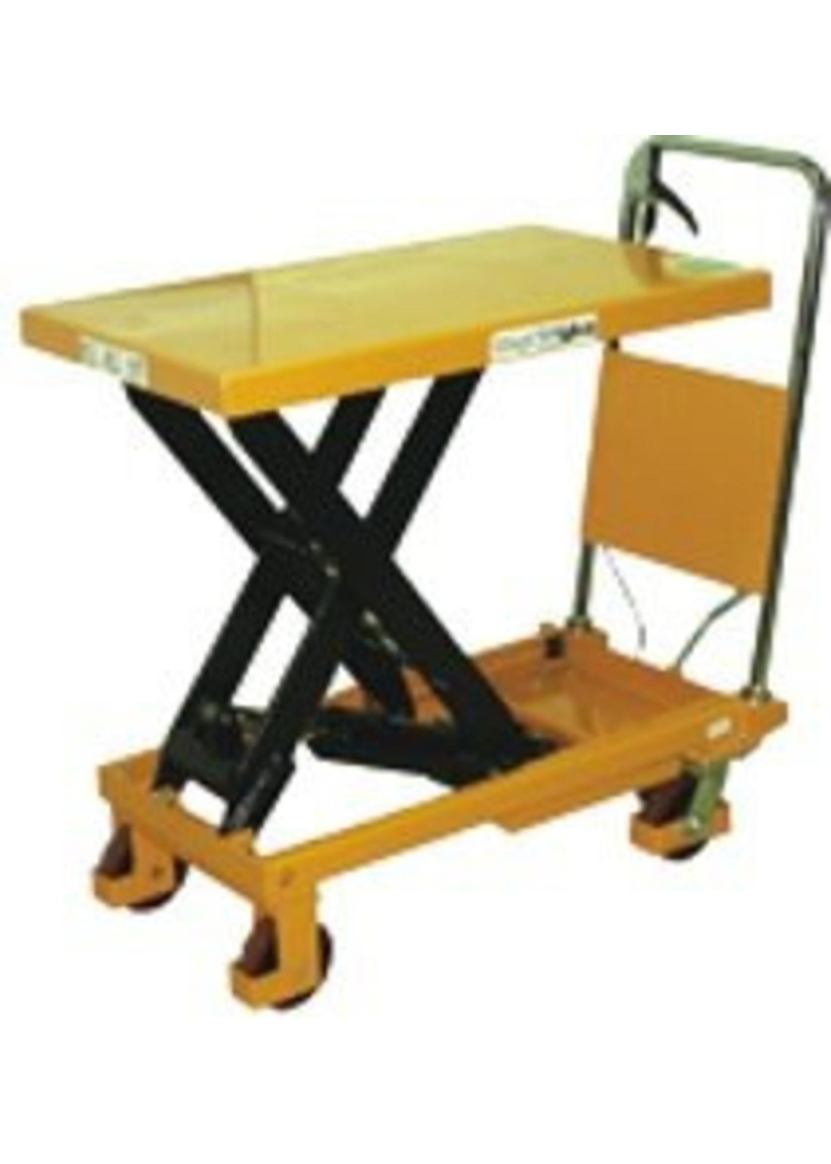Heftafel verrijdbaar hefhoogte tussen 340-900 mm maximaal 500 kg
