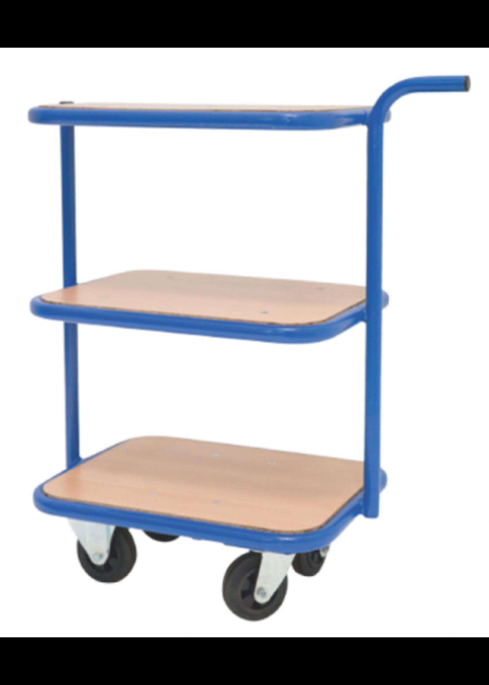 Etagewagen met 3 niveau's en speciaal klein oppervlak