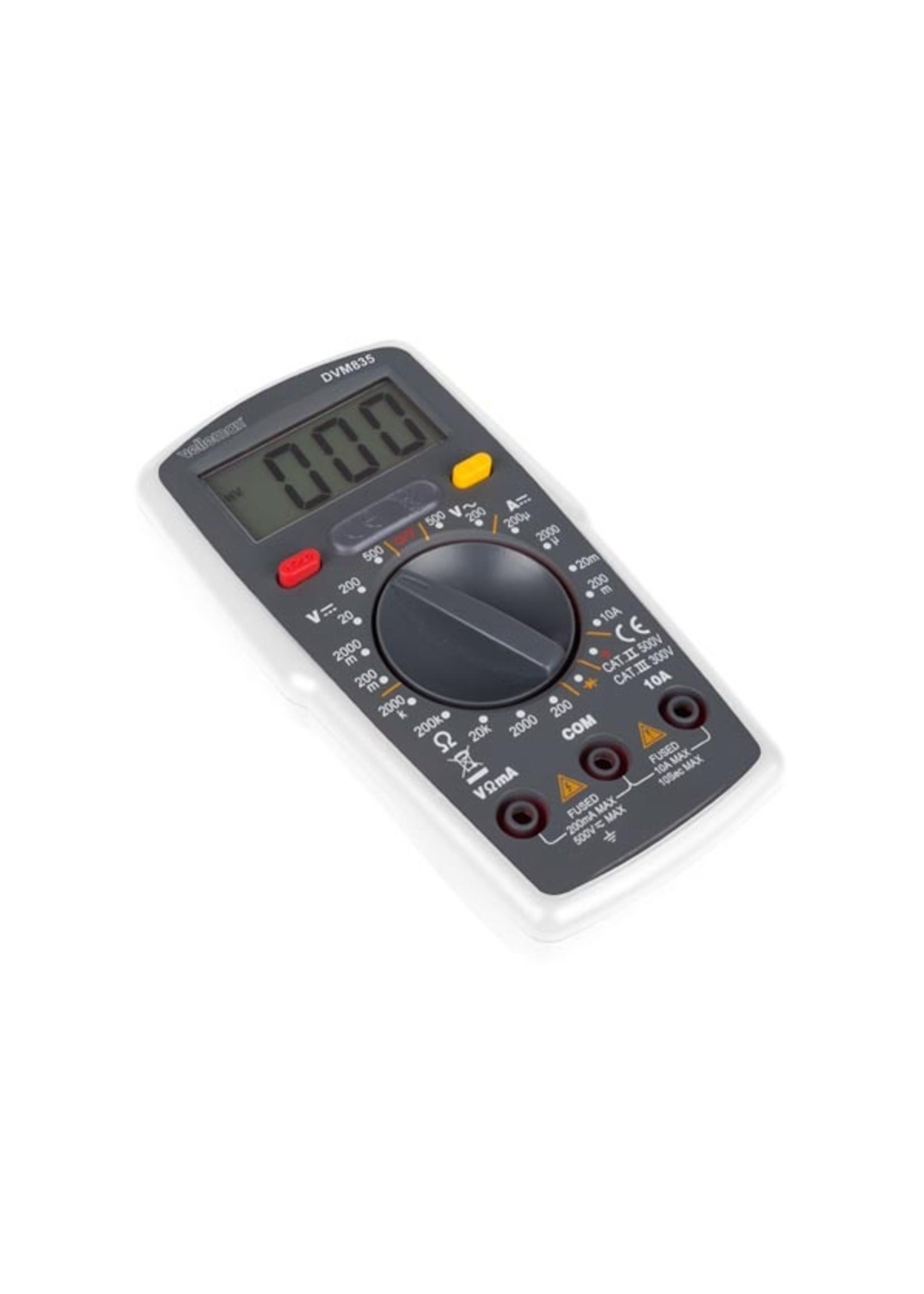 Toolland Digitale Multimeter - Cat. II 500 V / Cat. III 300 V - 10 A - 1999 Counts