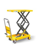 Stanley Stanley mobiele schaarheftafel tot 350 kg hefvermogen.