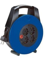 Brennenstuhl Brennenstuhl Vario Line kabelhaspel 4-voudig zwart/blauw 15m H05VV-F 3G1,5 *FR/BE