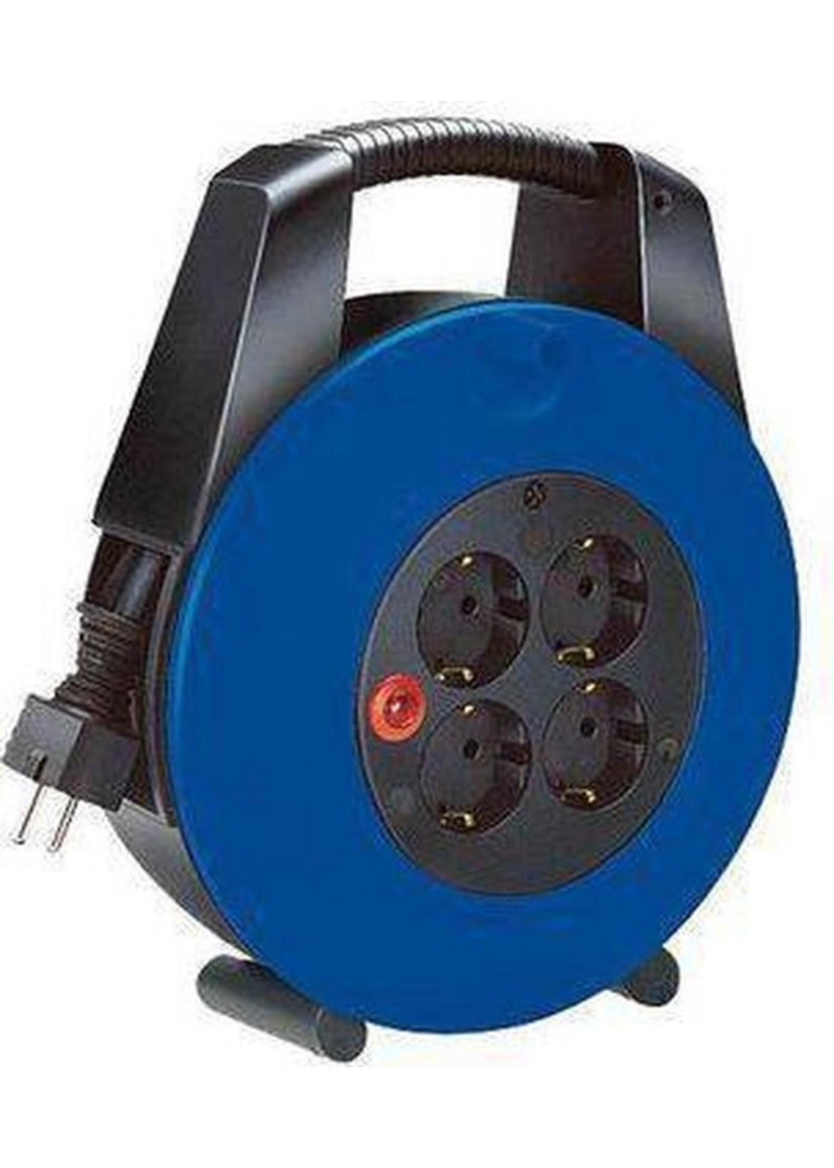 Brennenstuhl Brennenstuhl Vario Line kabelhaspel 4-voudig zwart/blauw 15m H05VV-F 3G1,5 *FR*
