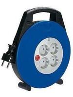 Brennenstuhl Brennenstuhl Vario Line kabelhaspel 4-voudig zwart/blauw/lichtgrijs 10m H05VV-F 3G1,5 *FR*