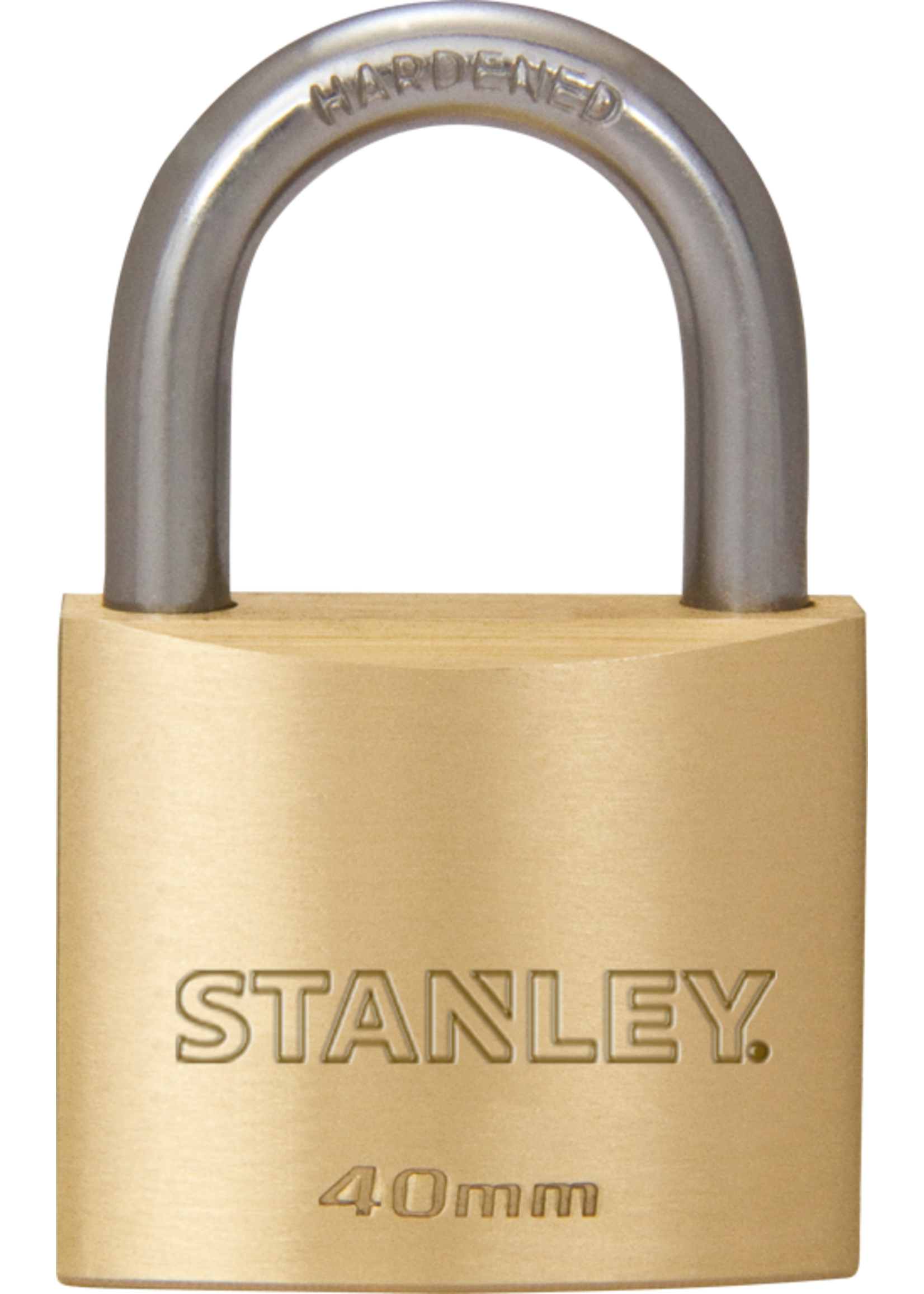 Stanley 2 stuks Stanley hangslot massief messing 40 mm standaard beugel