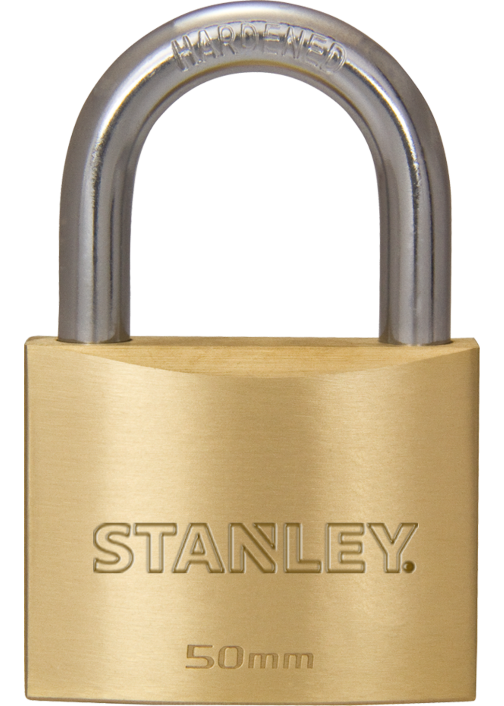 Stanley 4 stuks Stanley hangslot massief messing 50 mm standaard beugel