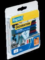 Rapid Rapid 5001424 Lijmpatronen - Rood/Groen/Blauw Glitter - 7x90mm (36st)