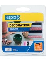 Rapid Rapid 5001422 Lijmpatronen - Wit/Zwart/Rose Glitter - Ø7x90mm (36st)