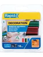 Rapid Rapid ovale lijmpatronen voor gevoelige materialen, glitter gekleurd