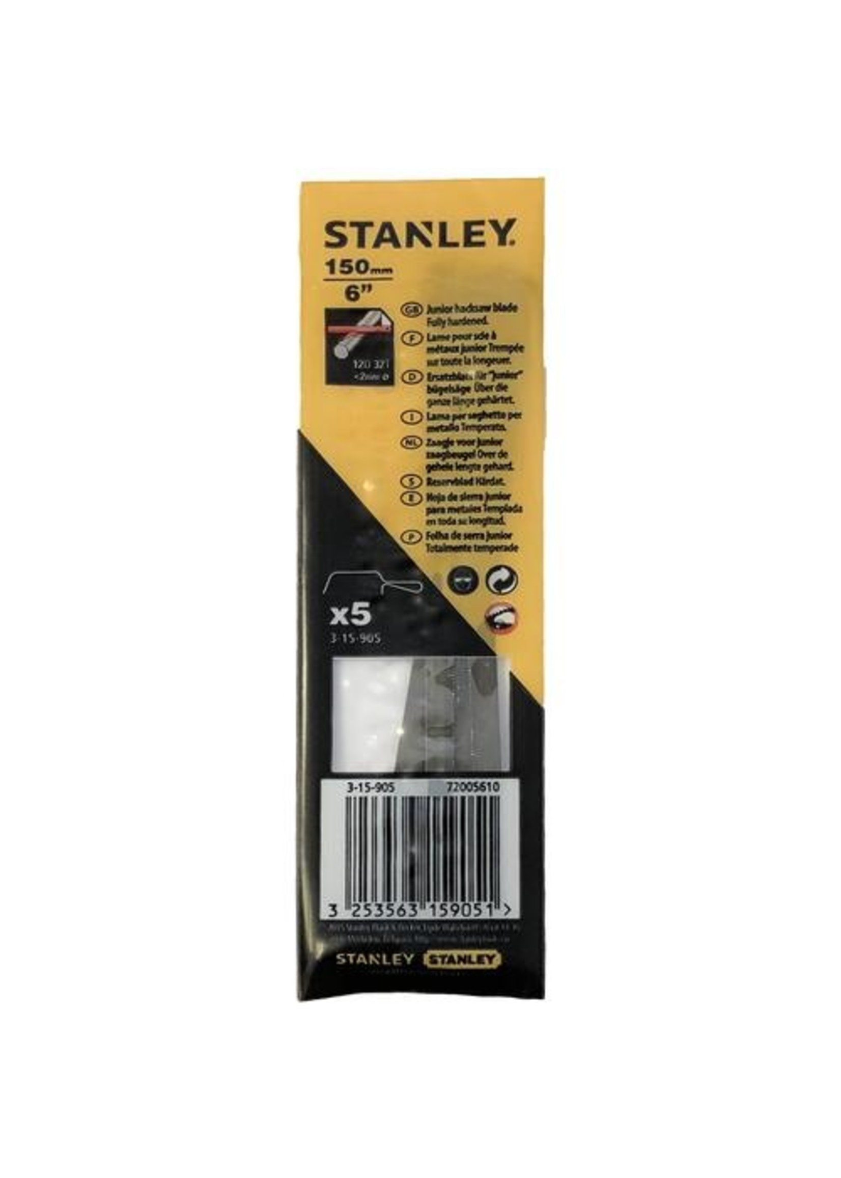 Stanley Stanley - Metaalzaagblad 150mm - 5 stuks/kaart