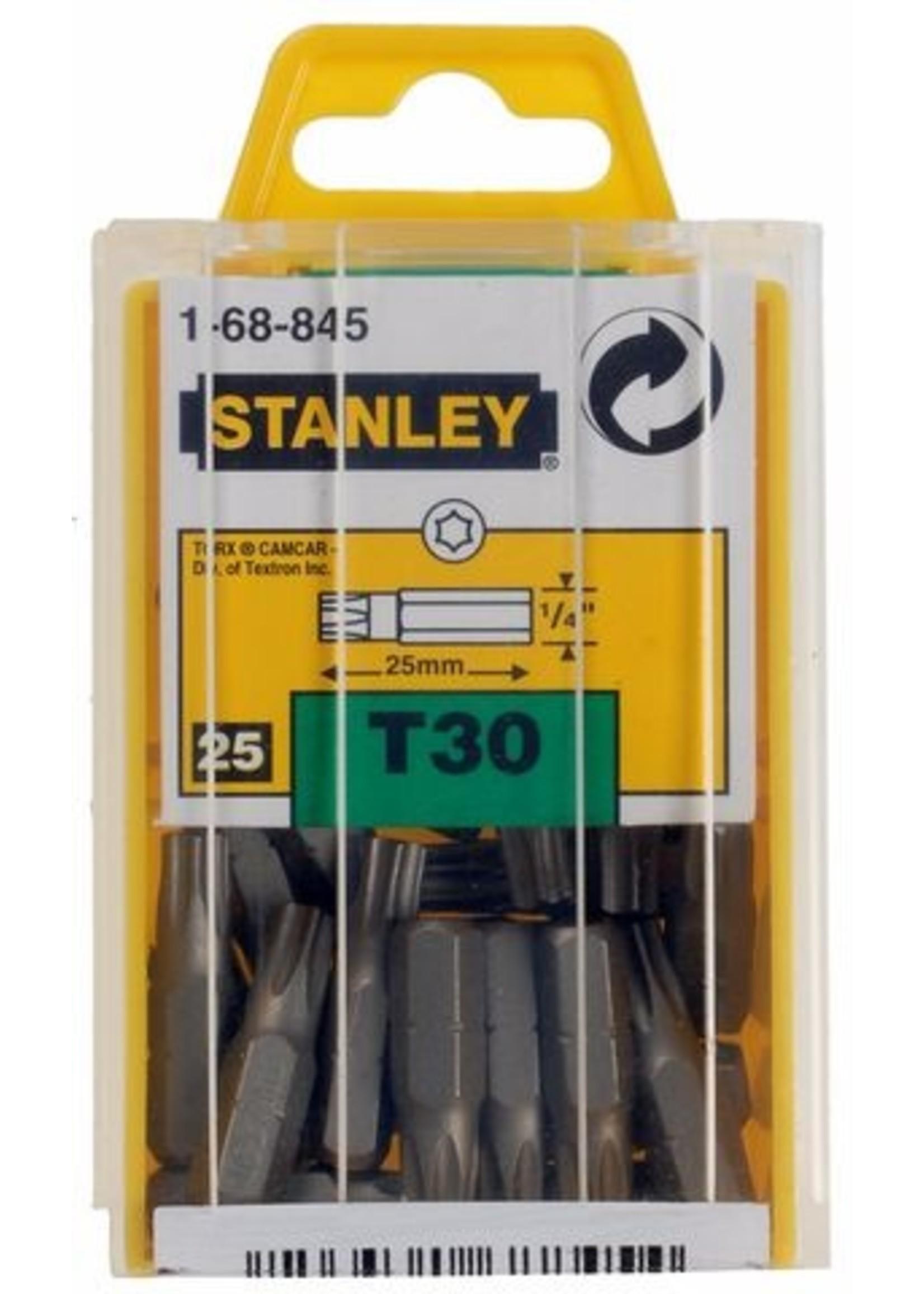 """Stanley Stanley  1/4"""" Bits Torx T30 doosje 25 stuks"""