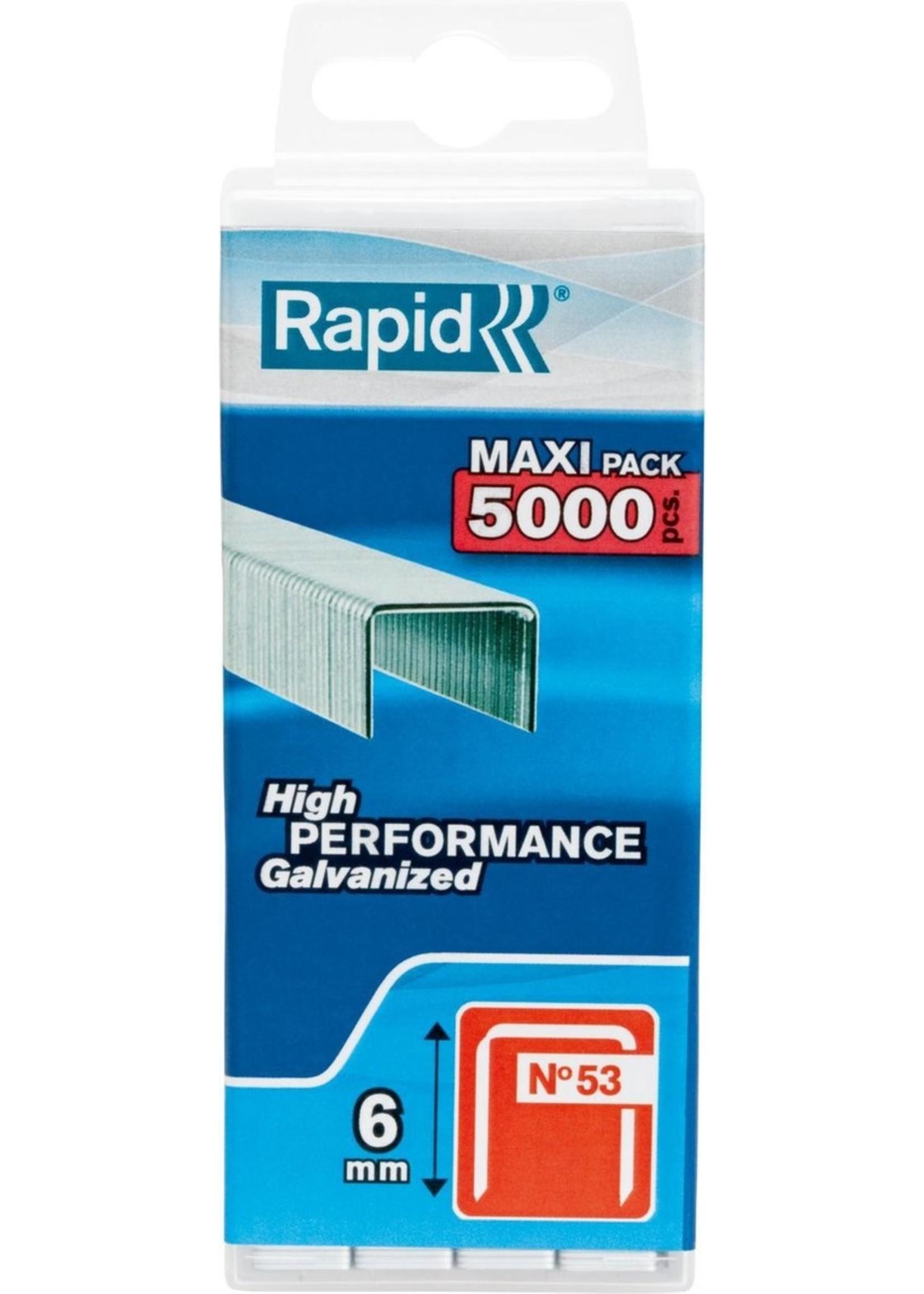 Rapid Rapid nieten 53/6 mm gegalvaniseerd 5.000 stuks