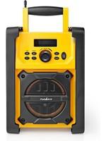 Nedis Nedis RDFM3100YW FM Bauradio 15 W Bluetooth® Ipx5 Griff Gelb / Schwarz