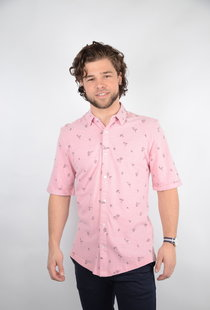Cuton SS Knitted Pique Aop Shirt