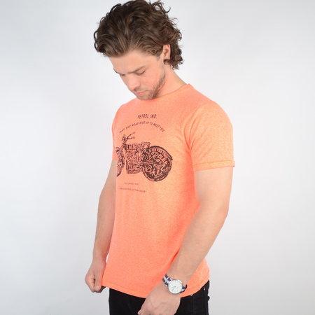 Petrol T-shirt SS R-Neck Fiery Coral (TSR649)
