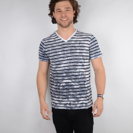 Petrol T-shirt SS V-Neck Bright White (TSV6740)