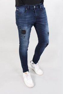 Ultimo Jeans Dark Blue Destroyed