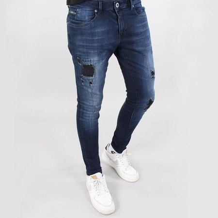 Gabbiano Ultimo Jeans Dark Blue Destroyed