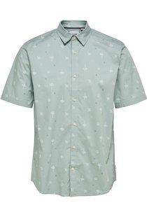 Onsbart Life Ss Aop Stretch Shirt Silver Blue 9271