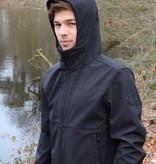 Airforce Softshell Jacket Webbing Summer Softshell True Black