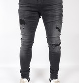 Gabbiano Ultimo Jeans 82655 Black Destroyed