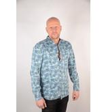 Only & Sons Printed Chambray Shirt Light Blue Denim 22012337