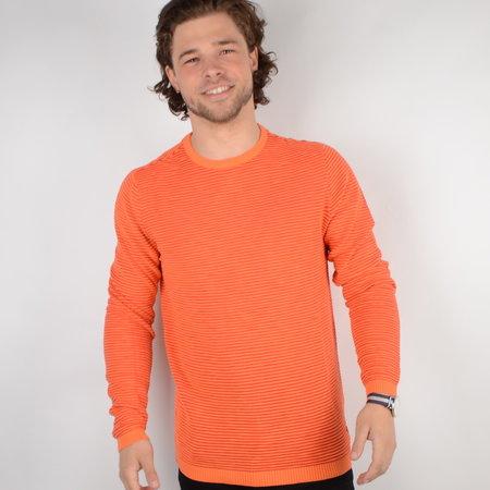Petrol Knitwear R-Neck Fiery Coral (KWR206)