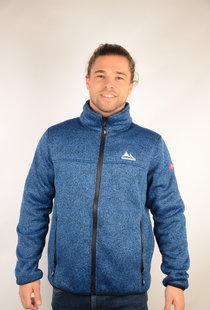 Mens Bonded Fleece Jacket Fred Blue Melange