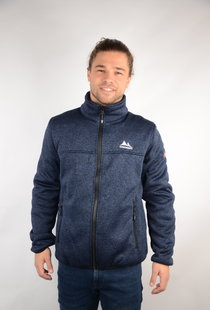 Mens Bonded Fleece Jacket Fred Navy Melange