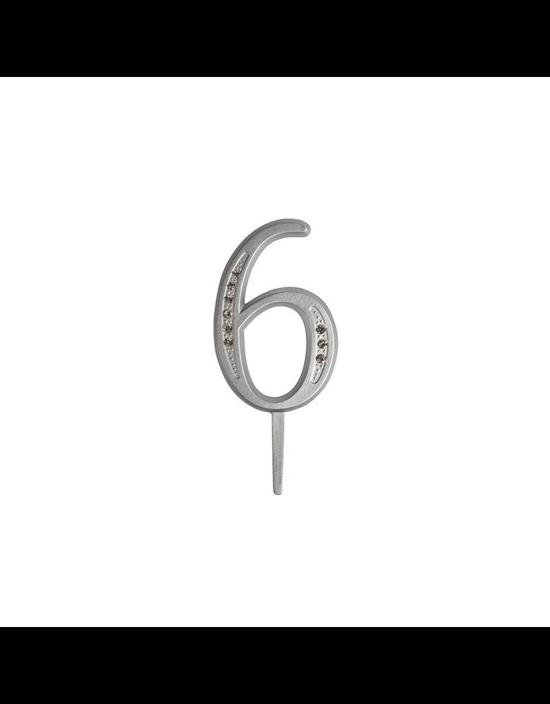 "2. Sweet Store Taarttopper luxe cijfer ""6"""