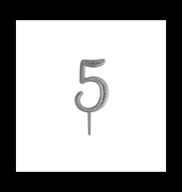 "2. Sweet Store Taarttopper luxe cijfer ""5"""