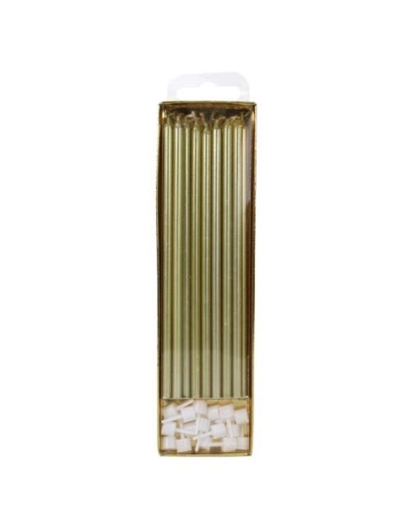 PME Taartkaarsjes Goud Extra Lang (18cm) 16st
