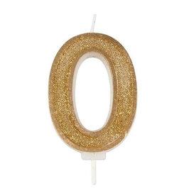 """Culpitt Kaars - goud - cijfer """"0"""""""