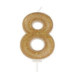 """Culpitt Kaars - goud - cijfer """"8"""""""